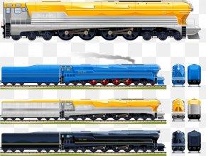 A Variety Of Train - Train Rail Transport Passenger Car Steam Locomotive PNG