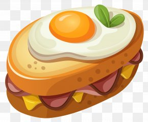 Sandwich With Egg Clipart Vector Picture - Egg Sandwich Breakfast Sandwich Fried Egg English Muffin PNG