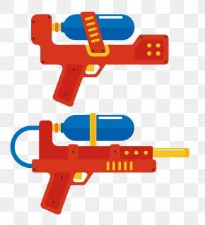 Vector Orange Toy Gun PNG
