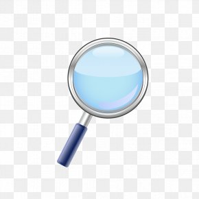 Blue Magnifying Glass Material - Magnifying Glass Magnifier PNG
