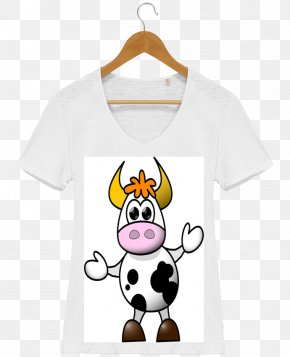 T-shirt - T-shirt Panda Cow Drawing Cartoon PNG