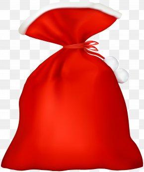 Red Santa Bag Transparent Clip Art - Santa Claus Bag Clip Art PNG