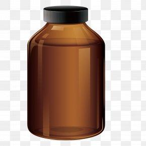 Vector Glass Bottle - Glass Bottle Pharmacy PNG
