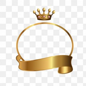 Golden Crown Belt Border - Gratis Download PNG
