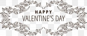 Continental Font HAPPY,VALENTINES,DAY - Valentines Day Typeface Greeting Card Qixi Festival Font PNG