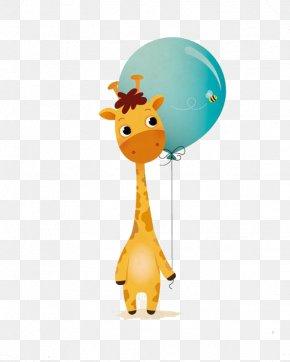Cartoon Giraffe - Northern Giraffe Cartoon Illustration PNG