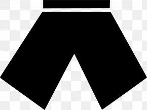 M Angle Font LineSummer Model Border Shorts - Logo Black & White PNG