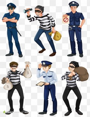 Thieves And Police - Police Officer Royalty-free Illustration PNG
