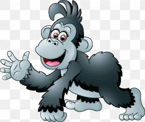 Gorilla - Western Gorilla Cartoon Clip Art PNG