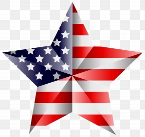 American Star Transparent Clip Art Image - United States Of America Flag Of The United States Independence Day Clip Art PNG