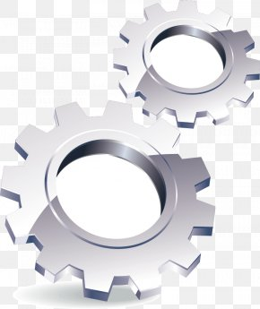 Website Stereoscopic 3D Fine Gear Icon - Gear 3D Computer Graphics Euclidean Vector Icon PNG