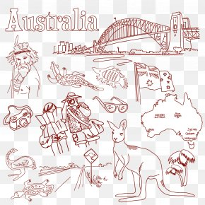 Australia Painted Element - Australia Italy Euclidean Vector PNG