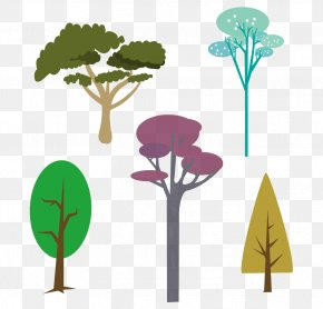 Vector Trees - Branch Tree Leaf Drawing PNG