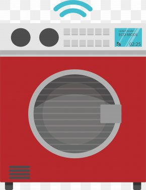 Smart Home Appliance Washing Machine - Home Automation Washing Machine Graphic Design PNG