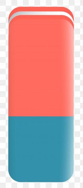 Eraser - Red Product Font Design PNG