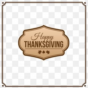 European And American Metal Frame Thanksgiving Card - Thanksgiving Icon PNG