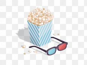 Vector Popcorn - Video Production PNG