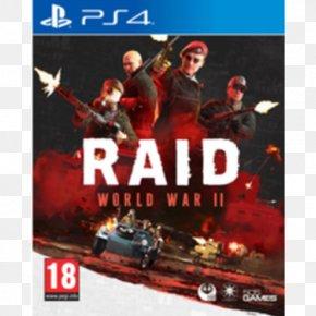 Playstation - Raid: World War II World War II: Panzer Claws PlayStation 4 Video Game Second World War PNG