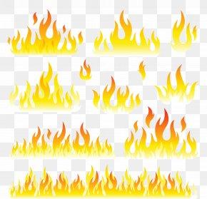 Flames Set Clipart Picture - Fire Flame Euclidean Vector Clip Art PNG