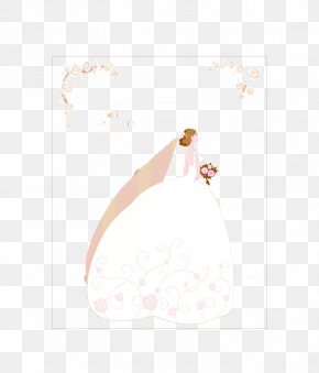 Beautiful Bride To Pull Material Free - Gown Petal Hand Pattern PNG