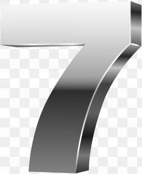 Number Seven 3D Silver Clip Art Image - Image File Formats Lossless Compression PNG