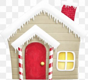 Cartoon Snow Wooden Cabin - Rudolph Santa Claus Christmas Santas Workshop Clip Art PNG