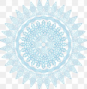 Sky Blue Religious Pattern - Circle Symmetry Area Point Pattern PNG