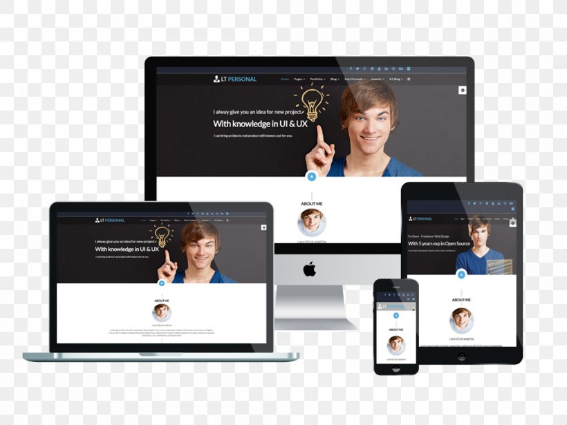 Responsive Web Design Wordpress Web Template System Personal Web Page Png 1000x750px Responsive Web Design Blog