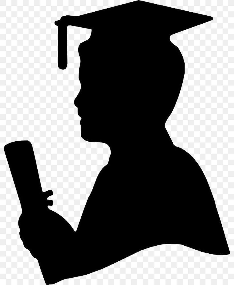 Graduation Ceremony Graduate University Silhouette Image ...