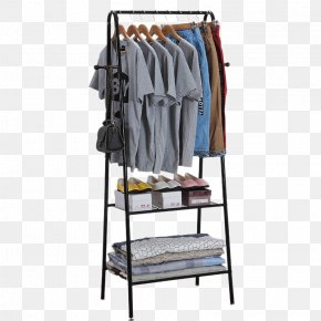Indoor Floor Balcony Hanger Rods - Clothes Hanger Cloakroom Wardrobe Bedroom Clothing PNG