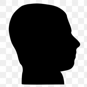 Silhouette - Silhouette Human Head Clip Art PNG