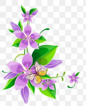 Design - Borders And Frames Floral Design Flower Clip Art PNG