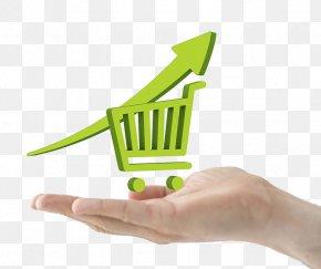 Hand Holding Shopping Cart - Online Shopping E-commerce Shopping Cart Software PNG