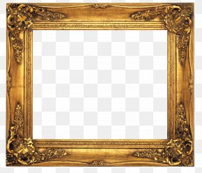 Gold Frames - Old Fashioned Picture Frames Stock Photography Clip Art PNG