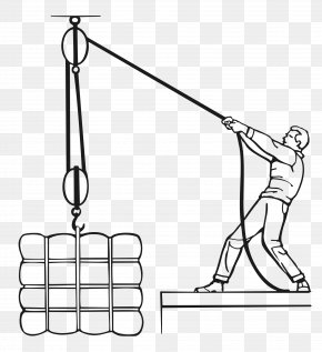 White Crane - Block And Tackle Pulley Hoist Rope PNG