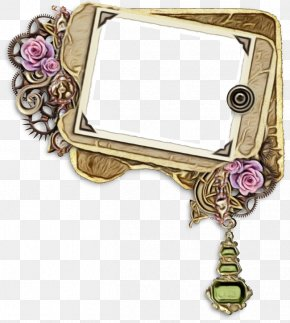 Picture Frame Rectangle - Watercolor Background Frame PNG