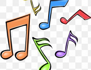 Number Text - Music Notes Cartoon PNG