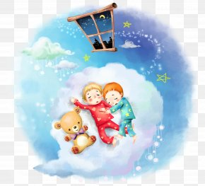 Night Children - Display Resolution 1080p Cartoon Wallpaper PNG