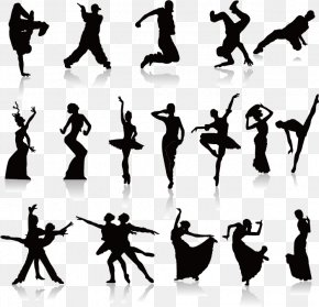 Dance Silhouette Vector - Dance Silhouette Poster PNG
