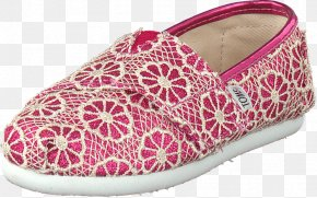 Glitter Shoes - Slip-on Shoe Pink Toms Shoes Boat Shoe PNG