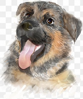 Tongue Dog - German Shepherd German Spitz Puppy Kitten Illustration PNG