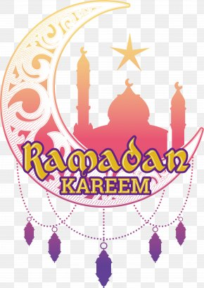 Ramadan Cartoon Moon Label - Islam Ramadan Icon PNG