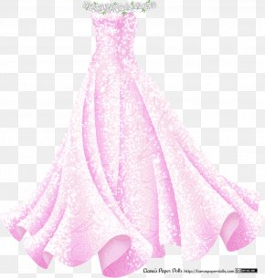 Gown - Dress Pink Ball Gown Evening Gown PNG