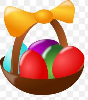 Easter Basket Clipart - Easter Bunny Egg In The Basket Easter Egg Clip Art PNG
