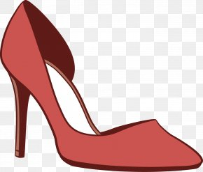 Vector Lady Pointed High-heeled Sandals - High-heeled Footwear Euclidean Vector PNG