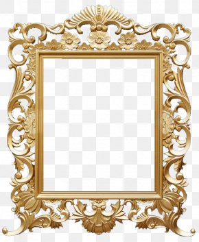 Golden Frame Picture Material - Picture Frame PNG