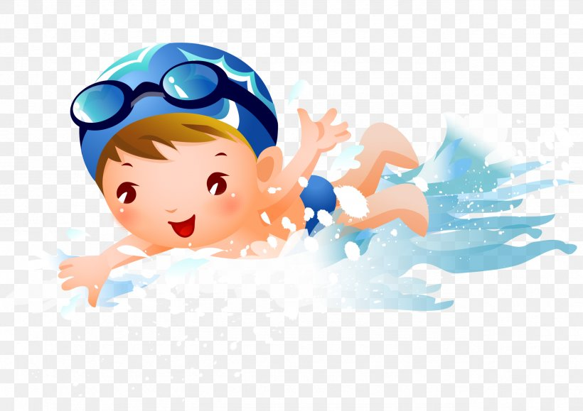 Swimming Child Clip Art Png 2555x1807px Swimming Boy Cartoon Child Drawing Download Free