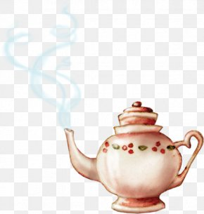Tea Time - Teapot Watercolor Painting Clip Art PNG
