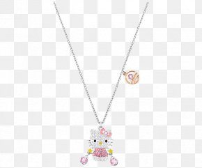 Swarovski Jewellery Ladies Pink Necklace - Hello Kitty Swarovski AG Necklace Jewellery Daisy London PNG