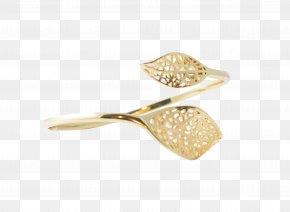 Gold Leaf - Jewellery Bangle Bracelet Gold Leaf PNG